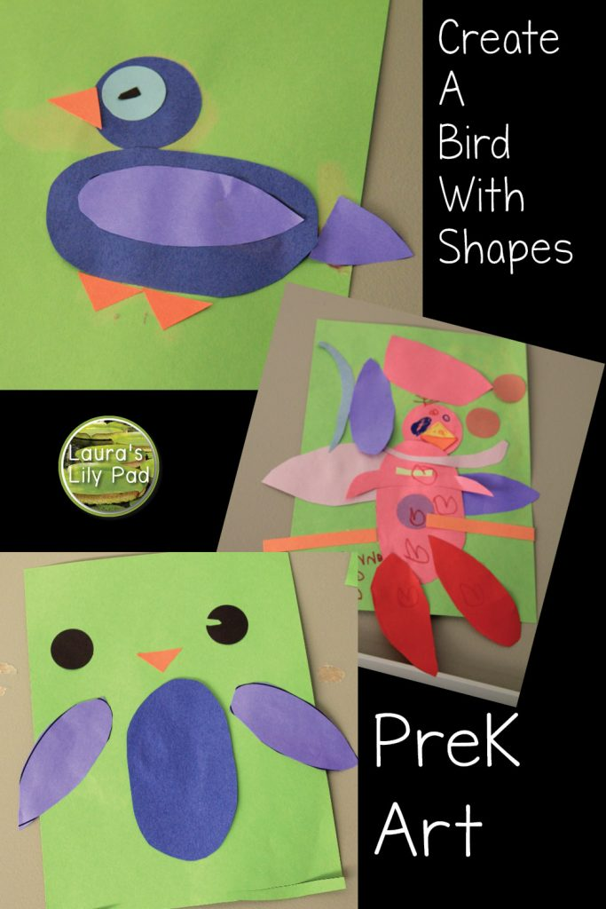 Creating a bird with shapes in PreK