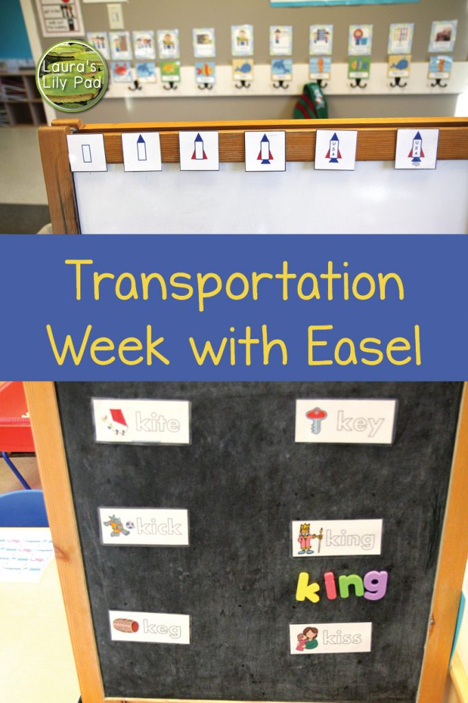 Easel Transportation Theme