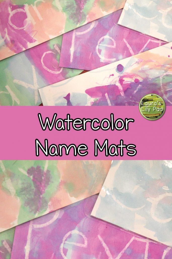Watercolor name mats