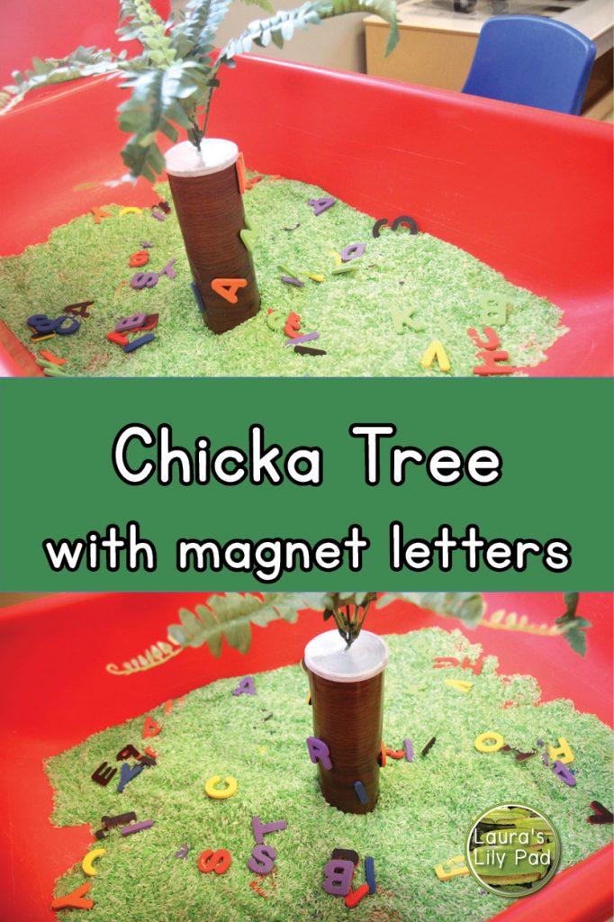 Chicka Tree Sensory Bin