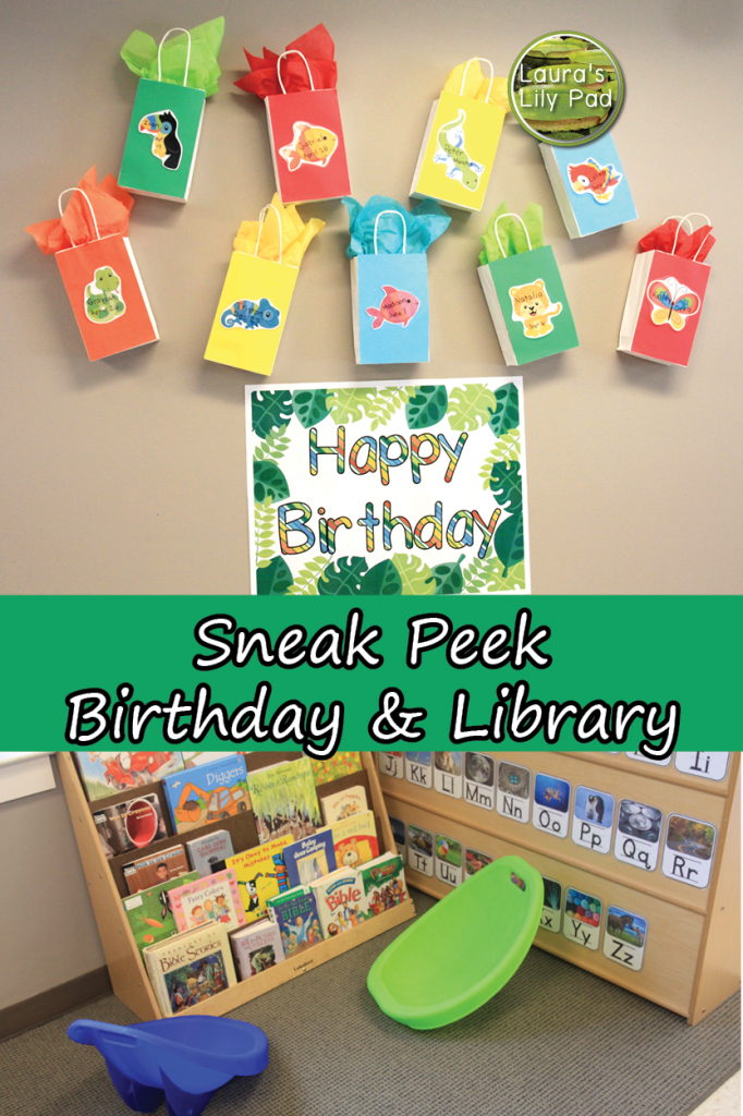 Sneak Peek Birthday and Library