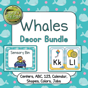 Whales Decor Bundle