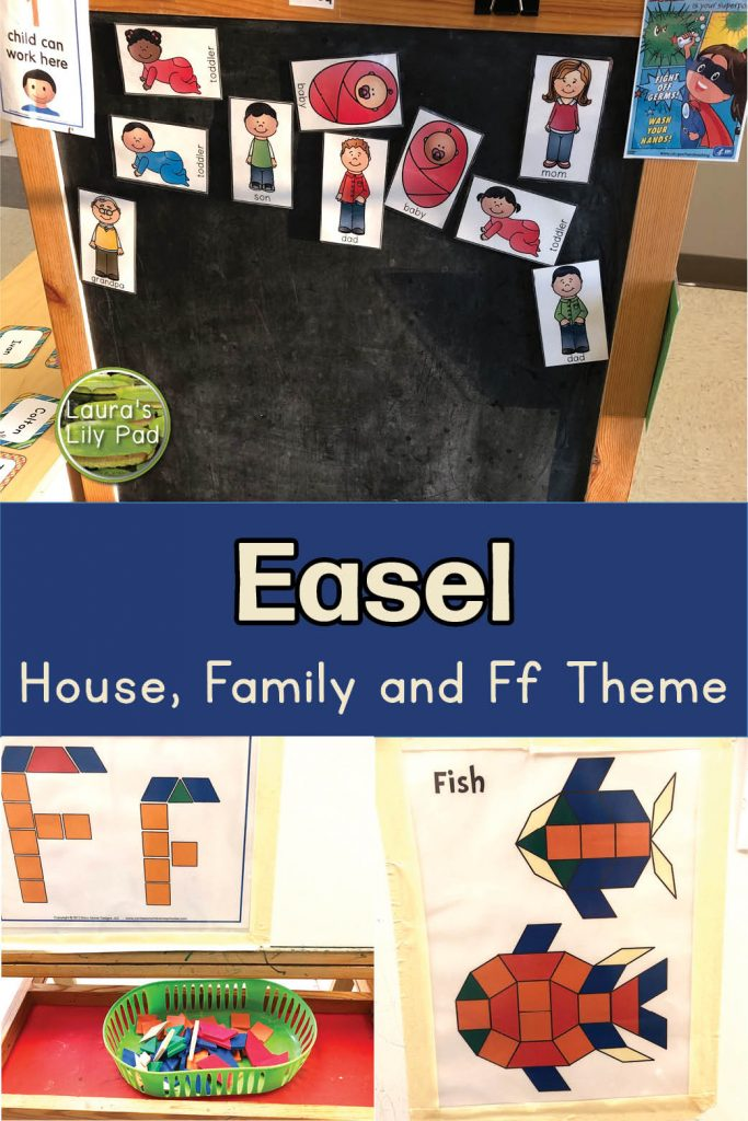 Family and Letter F easel ideas