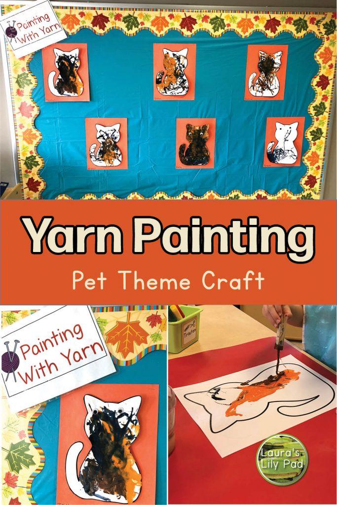 Yarn painting cats