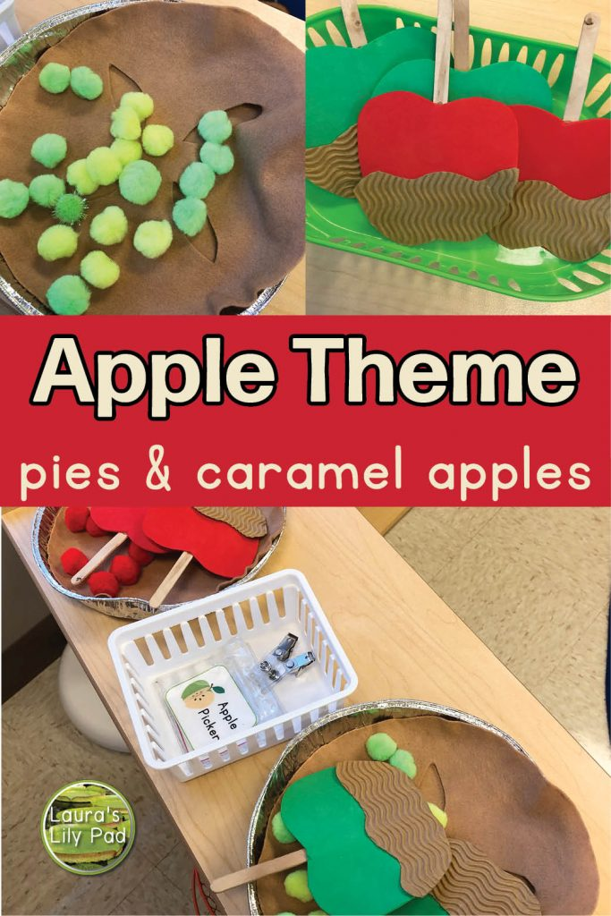 pies and caramel apples pretend